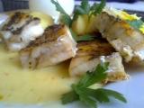 Aljašská treska s citronovo-máslovou omáčkou recept