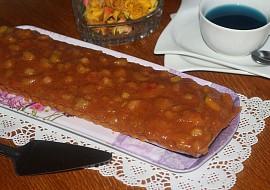 Ořechový koláč s rebarborou recept