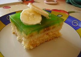 Banánové řezy se zeleným želé recept