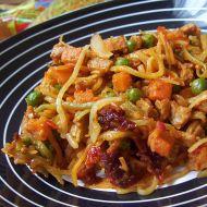 Zeleninovo-sójové nudle recept