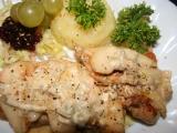 Kuře zapečené s hruškou a gorgonzolou recept