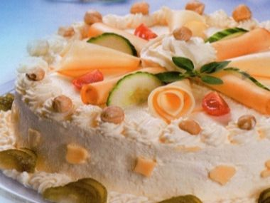 Sýrový dort s chlebovým korpusem