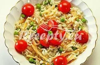 Rýžový salát s vejci recept  saláty