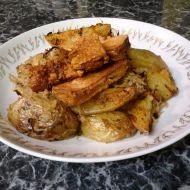 Pečené brambory s kysaným zelím a tofu recept