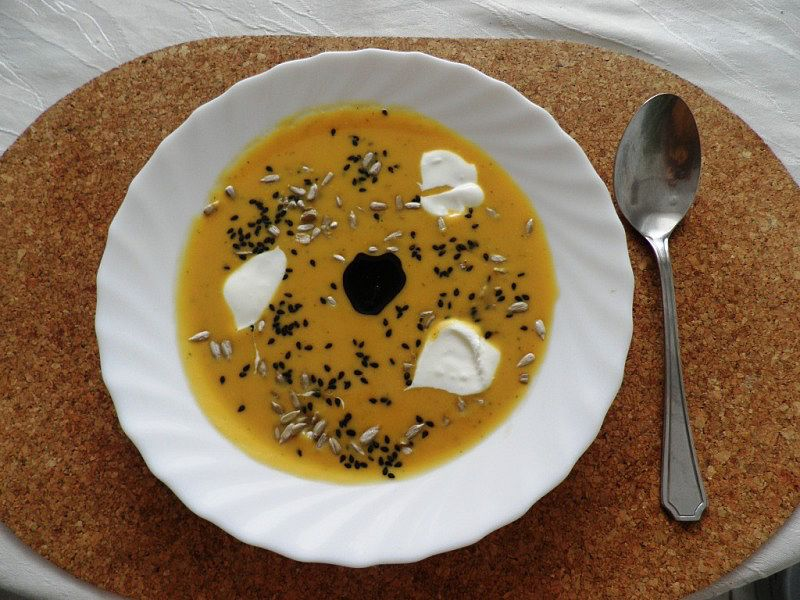 Zeleninový krém s batáty recept