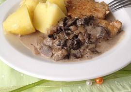 Kotleta s houbovou omáčkou recept