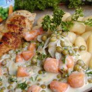 Gnocchi s hráškem a mrkví recept