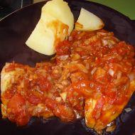 Treska v rajčatové omáčce recept
