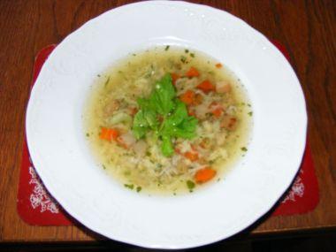 Kuřecí polévka s kudláskama
