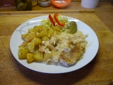 Kotleta na smetaně s pečeným bramborem recept