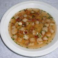 Rychlá polévka se sýrem a houskou recept