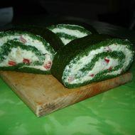 Špenátová roláda s tvarohovou náplní recept