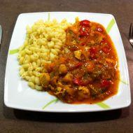 Kuřecí maso s jarní zeleninou recept