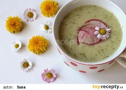 Jarní ředkvičková polévka s ricottou recept