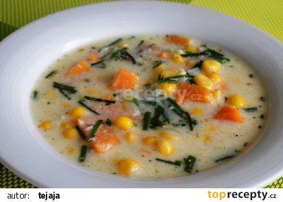Batátovo – kukuřičná polévka recept