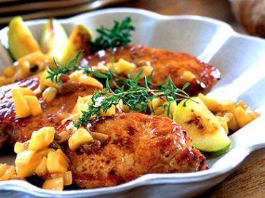 Recept Pečená husa s jablky a rozinkami