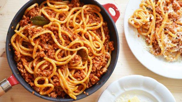 Pici pasta s vepřovým ragú