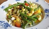 Zeleninová směs s fazolkami a vejcem recept