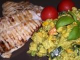 Pangas s dušenou kari zeleninou recept