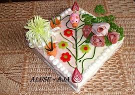 Slaný dort  s prasetem recept