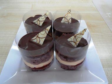 Čokoládovo-vanilková minitortička