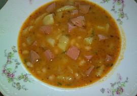 Polévka fazolková  bílé fazolky recept
