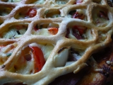 Pizza pod mřížkou recept