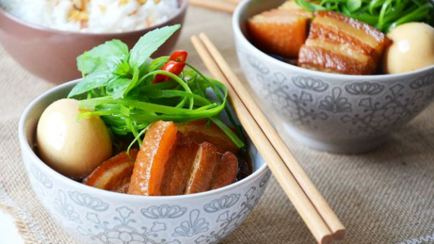 Vietnamský karamelizovaný bůček