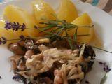 Žampionový gratin s levandulí a rozmarýnem recept