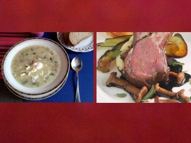 Oběd 88  Jihočeská kulajda a Jehněčí kotlety