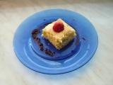 Tvarohový koláč s rebarborou recept