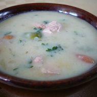 Smetanová polévka s lososem recept