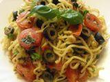 Špagety s ančovičkou, olivami a bazalkou recept