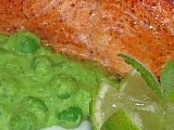 Losos tandoori s hráškovo-mátovým pyré recept