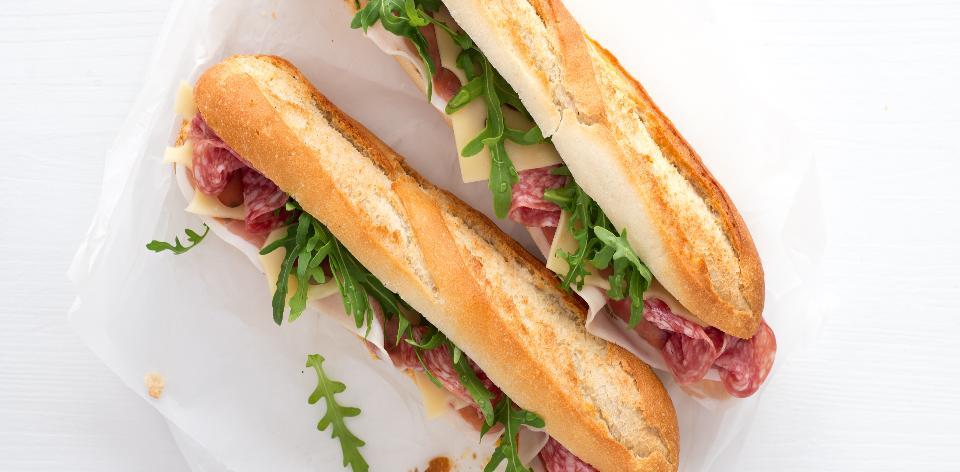 Domácí italská bageta s majonézou