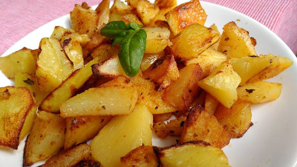 Bazalkovo  tymiánové brambory recept