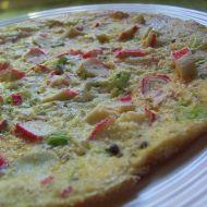 Vaječná omeleta z rybích tyčinek recept