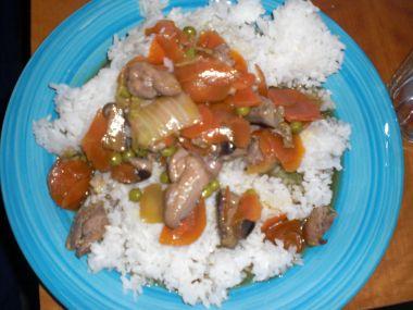 Kuřecí se zeleninou a houbami shitake