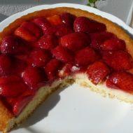 Jahodový koláč s tvarohem recept