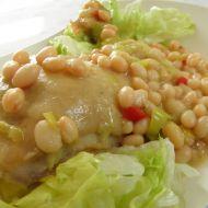 Kuřecí stehna s bílou fazolí recept