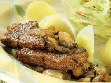 Klokaní bifteky na houbách