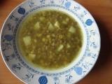 Čočkovo  hrachová polévka s vůní česneku recept