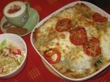 Italské lasagne s listovým špenátem, mozzarellou a parmazánem ...