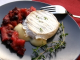 Rebarborovo-jablečná omáčka s brusinkami recept