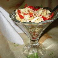 Těstovinový salát s králičím masem recept