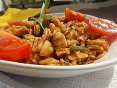 Těstoviny s hříbky recept