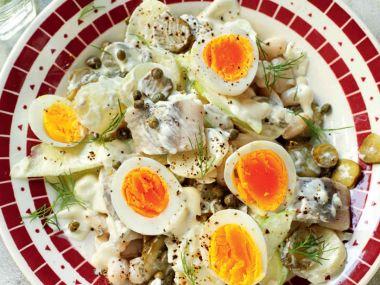 Vídeňský bramborový salát s matjesy