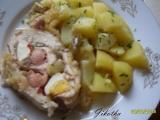 Telecí roláda s vejci a salámem recept