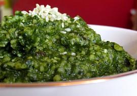 Kuskusový tahini špenát se sezamovými semínky recept ...
