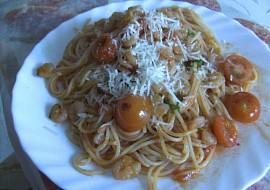 Vinná omáčka s krevetami na špagety recept